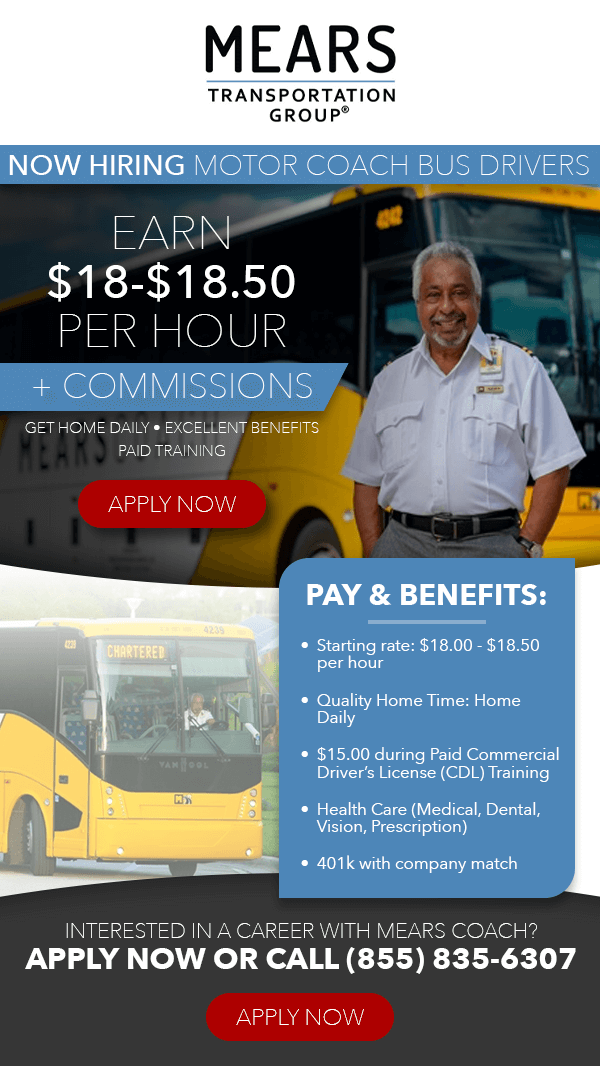 Bus Driver - Home Daily - $18-18.50/Hour + Commissions ...