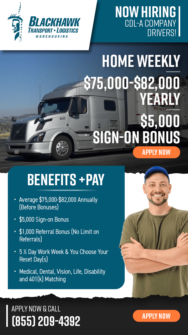 Truck Driver - Home Weekly - Avg. $60k/Year - $5k Sign On